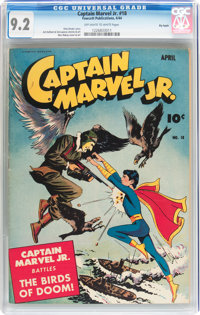 Captain Marvel Jr. #18 Big Apple pedigree (Fawcett Publications, 1944) CGC NM- 9.2 Off-white to white pages