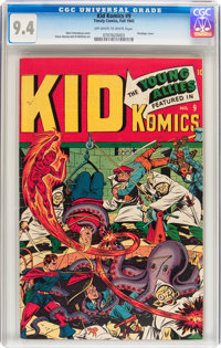 Kid Komics #9 (Timely, 1945) CGC NM 9.4 Off-white to white pages