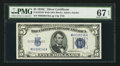 Small Size:Silver Certificates, Fr. 1653 $5 1934C Wide Silver Certificate. PMG Superb Gem Unc 67 EPQ.. ...