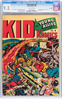 Kid Komics #4 Big Apple pedigree (Timely, 1944) CGC NM- 9.2 Off-white pages