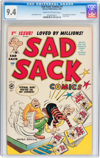 Sad Sack Comics #1 File Copy (Harvey, 1949) CGC NM 9.4 Cream to off-white pages