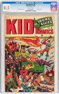 Golden Age (1938-1955):War, Kid Komics #6 (Timely, 1944) CGC VF+ 8.5 Off-white pages....