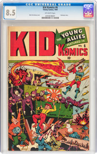 Kid Komics #6 (Timely, 1944) CGC VF+ 8.5 Off-white pages