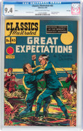 Classics Illustrated #43 Great Expectations - HRN 62 - File Copy (Gilberton, 1949) CGC NM 9.4 Cream to off-white pages...