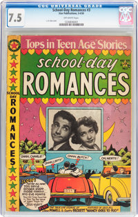 School Day Romances #3 (Star Publications, 1950) CGC VF- 7.5 Off-white pages