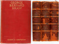 Books:Literature Pre-1900, [George Bernard Shaw]. Group of Four Books by or About Shaw.Various publishers and dates. Twelvemos. Publisher's bindings. ...(Total: 4 Items)