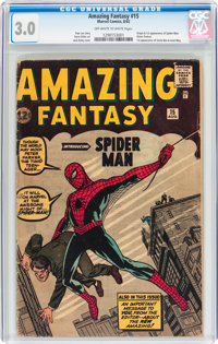 Amazing Fantasy #15 (Marvel, 1962) CGC GD/VG 3.0 Off-white to white pages