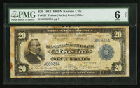 Fr. 827 $20 1915 Federal Reserve Bank Note PMG Good 6 Net