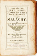 Books:Religion & Theology, Samuel Torshell. A Learned and Very Useful Commentary upon the Whole Prophesie of Malachy. London: Daniel Frere, 164...
