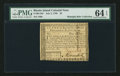 Colonial Notes:Rhode Island, Rhode Island July 2, 1780 $4 PMG Choice Uncirculated 64 EPQ.. ...