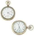 Timepieces:Pocket (post 1900), Waltham & Peoria Watch Co. 18 Size Pocket Watches. ... (Total:2 Items)