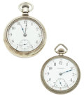Timepieces:Pocket (post 1900), Omega & Elgin Pocket Watches. ... (Total: 2 Pieces)