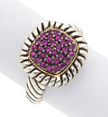 Estate Jewelry:Rings, Ruby, Sterling Silver, Gold Ring, Effy. ...