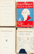 Books:Biography & Memoir, [George Washington]. Group of Four Books about George Washington.Various publishers and dates. Original cloth bindings; two...(Total: 4 Items)