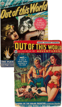 Out of This World Adventures #1 and 2 Group (Avon, 1950) Condition: Average VG/FN.... (Total: 2 Items)
