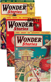 Wonder Stories Group (Standard, 1931-35) Condition: Average VG+.... (Total: 12 Items)