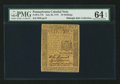 Colonial Notes:Pennsylvania, Pennsylvania July 20, 1775 30s PMG Choice Uncirculated 64 EPQ.. ...
