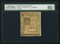 Colonial Notes:Delaware, Delaware January 1, 1776 5s PMG Gem Uncirculated 65 EPQ.. ...