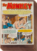 "Memorabilia:Comic-Related, EC Shock SuspenStories #12 Complete Story ""The Monkey"" Silverprint Proof Group (EC, 1953).... (Total: 7 Items)"