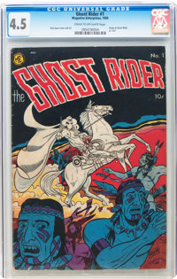 Ghost Rider #1 (Magazine Enterprises, 1950) CGC VG+ 4.5 Cream to off-white pages