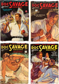 Doc Savage Group (Street & Smith, 1934) Condition: Average FN-.... (Total: 5 Items)