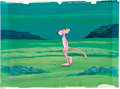 Animation Art:Production Cel, The Pink Panther Show Production Cel with Hand-PaintedBackground Animation Art (DePatie-Freleng, 1969-78)....
