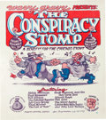 Memorabilia:Underground, The Conspiracy Stomp Concert/Event Poster with Robert Crumb Art (Wavy Gravy, 1969)....