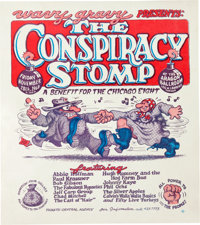 The Conspiracy Stomp Concert/Event Poster with Robert Crumb Art (Wavy Gravy, 1969)