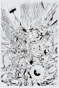 Original Comic Art:Covers, Bryan Hitch and Paul Neary The Avengers #12.1 Cover OriginalArt (Marvel, 2011)....