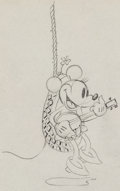 Animation Art:Production Drawing, Camping Out Minnie Mouse Production Drawing Animation Art(Disney, 1934)....