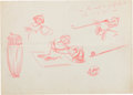 Animation Art:Production Drawing, Donald Duck Concept Sketch Group Animation Art (Disney,1930s).... (Total: 3 Items)