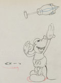 Animation Art:Production Drawing, Mickey's Garden Mickey Mouse Production Drawing AnimationArt (Disney, 1935)....