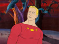 Animation Art:Production Cel, New Adventures of Flash Gordon Animation Cel Set-up with Background Animation Art (Filmation, 1979)....