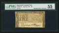 Colonial Notes:Maryland, Maryland April 10, 1774 $8 PMG About Uncirculated 55.. ...