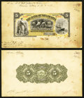 Canadian Currency: , Halifax, NS- The Bank of Nova Scotia $5 Jan. 3, 1898 Ch. #550-28-04 Printer's Models. ... (Total: 2 notes)