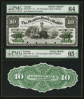 Canadian Currency: , Halifax, NS- The People's Bank of Halifax $10 Sept. 1, 1880 Ch. # 580-12-18FP/BP Front/Back Proofs.. ... (Total: 2 notes)