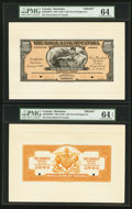 Canadian Currency: , Bridgetown, Barbados- The Royal Bank of Canada $100 (£20-16-8)January 2, 1920 Ch. # 630-30-06FP/BP Face/Back Proofs. ... (Total:2 notes)