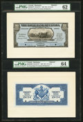 Canadian Currency: , Bridgetown, Barbados- The Royal Bank of Canada $20 £4-3s-4d Ch. #630-30-04FP/BP Face Proof/Back Proof.. ...