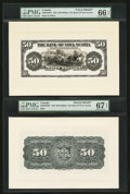 Canadian Currency: , Halifax, NS- The Bank of Nova Scotia $50 January 2, 1925 Ch. #550-28-28FP/BP Face Proof/Back Proof.. ...
