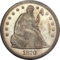 Seated Dollars, 1870 $1 MS66 PCGS Secure....