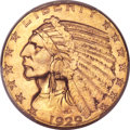 Indian Half Eagles, 1929 $5 MS64+ PCGS. CAC....