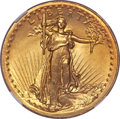 High Relief Double Eagles, 1907 $20 High Relief, Wire Rim MS65 ★ NGC....