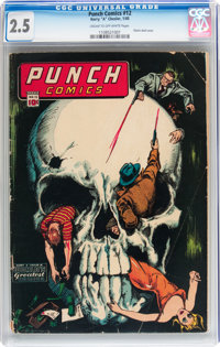 Punch Comics #12 (Chesler, 1945) CGC GD+ 2.5 Cream to off-white pages