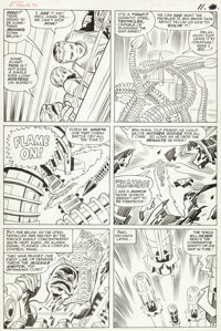 """Jack Kirby and Chic Stone Fantastic Four #31 """"The Mad Menace of the Macabre Mole Man!"""" Page 9 Original Art (Ma..."""