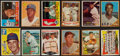 Baseball Cards:Lots, 1950's-1960's Baseball Stars and Hall of Famers Card Collection (12) With Mantle. ...