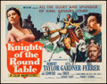 "Movie Posters:Adventure, Knights of the Round Table (MGM, R-1962). Half Sheet (22"" X 28"").Adventure.. ..."