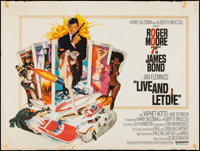 "Live and Let Die (United Artists, 1973). British Quad (30"" X 40""). James Bond"