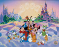 "Animation Art:Model Sheet, ""Top of the World with Mickey and Friends"" Limited EditionSericel (Disney, 1999)...."