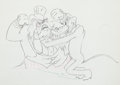 Animation Art:Production Drawing, Society Dog Show Pluto Production Drawing Animation Art(Walt Disney, 1939)....