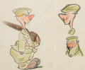 Animation Art:Production Drawing, Private Snafu Concept Sketch Animation Art (Warner Bros,1940s)....